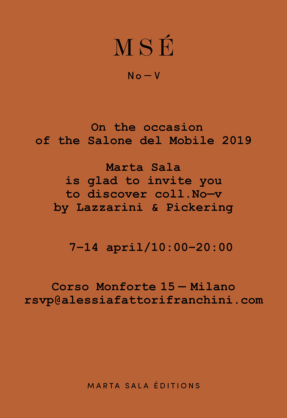 Marta Sala Éditions - Milan Design Week 2019