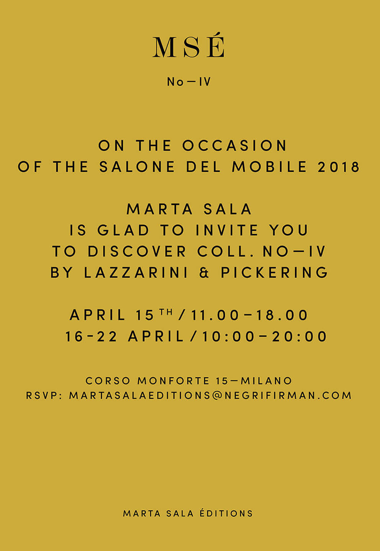 Marta Sala Éditions - Milan Design Week 2018