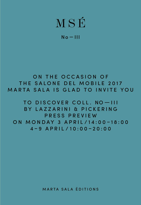 Marta Sala Éditions - Milan Design Week 2017